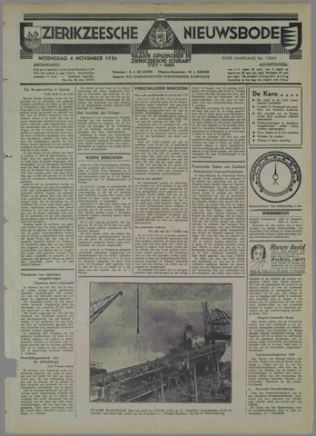 Zierikzeesche Nieuwsbode 1936-11-04