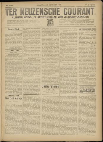 Ter Neuzensche Courant. Algemeen Nieuws- en Advertentieblad voor Zeeuwsch-Vlaanderen / Neuzensche Courant ... (idem) / (Algemeen) nieuws en advertentieblad voor Zeeuwsch-Vlaanderen 1931-10-19