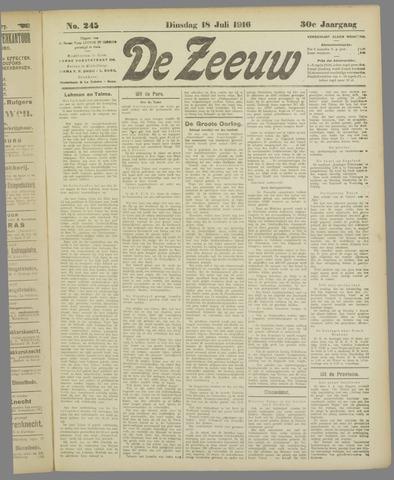 De Zeeuw. Christelijk-historisch nieuwsblad voor Zeeland 1916-07-18
