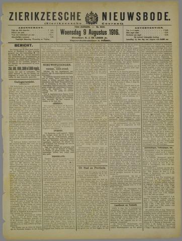 Zierikzeesche Nieuwsbode 1916-08-09