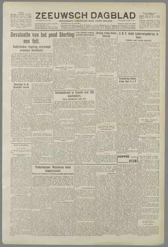 Zeeuwsch Dagblad 1949-09-19