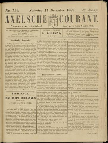 Axelsche Courant 1889-12-14