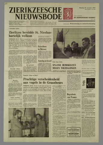 Zierikzeesche Nieuwsbode 1975-11-24