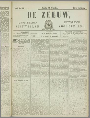 De Zeeuw. Christelijk-historisch nieuwsblad voor Zeeland 1888-12-18