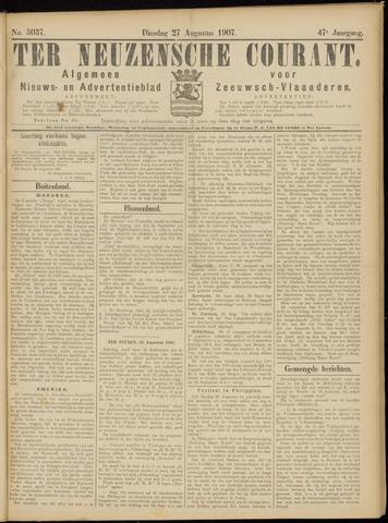 Ter Neuzensche Courant. Algemeen Nieuws- en Advertentieblad voor Zeeuwsch-Vlaanderen / Neuzensche Courant ... (idem) / (Algemeen) nieuws en advertentieblad voor Zeeuwsch-Vlaanderen 1907-08-27