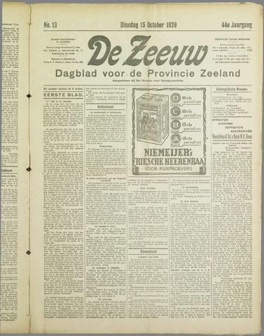De Zeeuw. Christelijk-historisch nieuwsblad voor Zeeland 1929-10-15