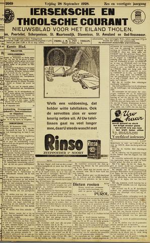 Ierseksche en Thoolsche Courant 1928-09-28