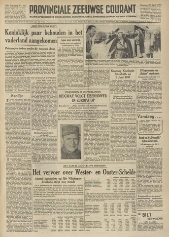 Provinciale Zeeuwse Courant 1952-04-29