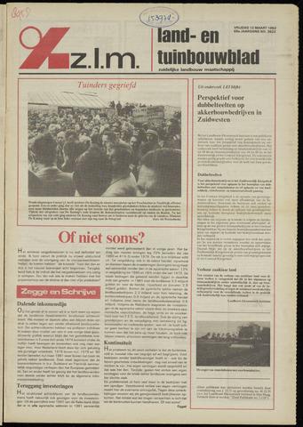 Zeeuwsch landbouwblad ... ZLM land- en tuinbouwblad 1982-03-12