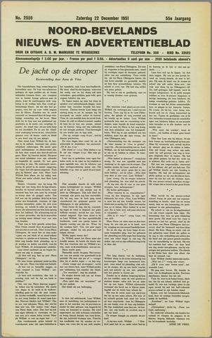 Noord-Bevelands Nieuws- en advertentieblad 1951-12-22