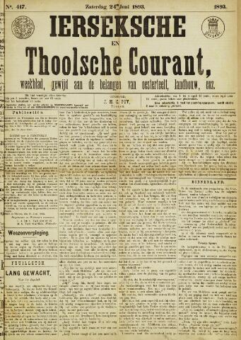 Ierseksche en Thoolsche Courant 1893-06-24