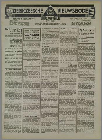 Zierikzeesche Nieuwsbode 1936-02-11