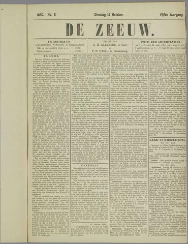 De Zeeuw. Christelijk-historisch nieuwsblad voor Zeeland 1890-10-14