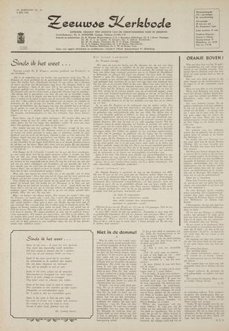 Zeeuwsche kerkbode, weekblad gewijd aan de belangen der gereformeerde kerken/ Zeeuwsch kerkblad 1969-05-08