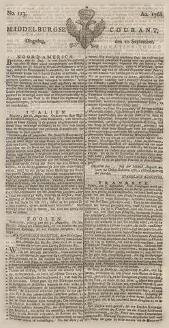 Middelburgsche Courant 1768-09-20