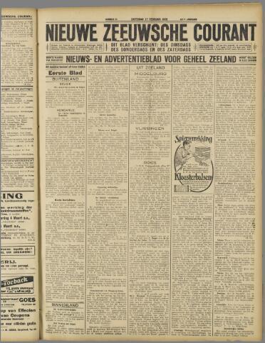Nieuwe Zeeuwsche Courant 1926-02-27