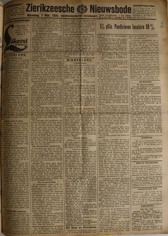 Zierikzeesche Nieuwsbode 1921-11-07