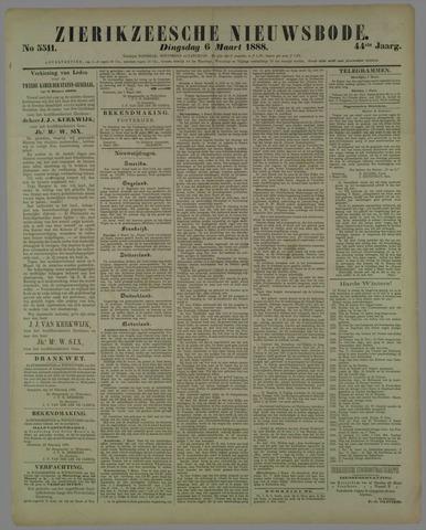 Zierikzeesche Nieuwsbode 1888-03-06
