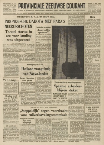 Provinciale Zeeuwse Courant 1962-05-18