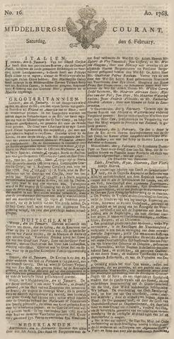 Middelburgsche Courant 1768-02-06
