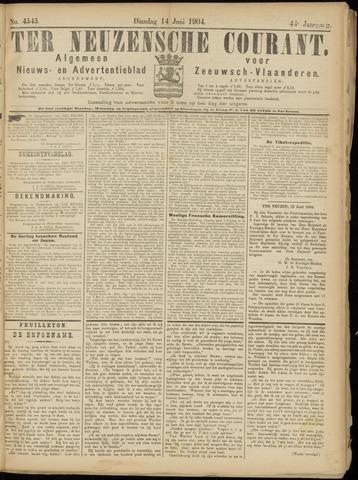 Ter Neuzensche Courant. Algemeen Nieuws- en Advertentieblad voor Zeeuwsch-Vlaanderen / Neuzensche Courant ... (idem) / (Algemeen) nieuws en advertentieblad voor Zeeuwsch-Vlaanderen 1904-06-14