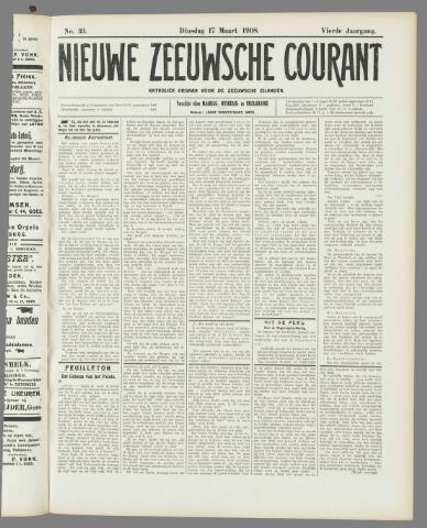 Nieuwe Zeeuwsche Courant 1908-03-17