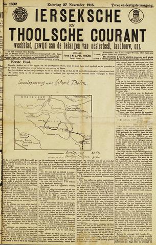 Ierseksche en Thoolsche Courant 1915-11-27