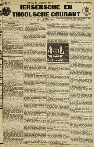 Ierseksche en Thoolsche Courant 1924-08-29