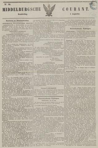Middelburgsche Courant 1850-08-01