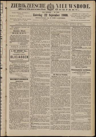 Zierikzeesche Nieuwsbode 1900-09-22
