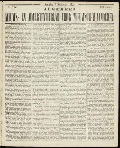 Ter Neuzensche Courant. Algemeen Nieuws- en Advertentieblad voor Zeeuwsch-Vlaanderen / Neuzensche Courant ... (idem) / (Algemeen) nieuws en advertentieblad voor Zeeuwsch-Vlaanderen 1872-12-07