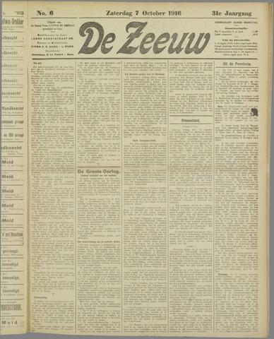 De Zeeuw. Christelijk-historisch nieuwsblad voor Zeeland 1916-10-07