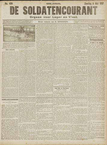 De Soldatencourant. Orgaan voor Leger en Vloot 1917-05-06