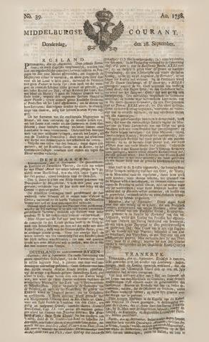 Middelburgsche Courant 1758-09-28