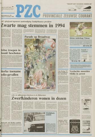 Provinciale Zeeuwse Courant 1992-11-27