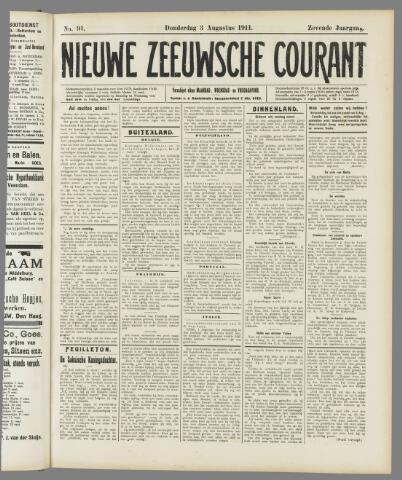 Nieuwe Zeeuwsche Courant 1911-08-03