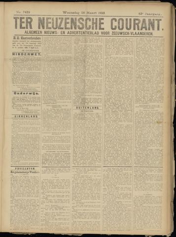 Ter Neuzensche Courant. Algemeen Nieuws- en Advertentieblad voor Zeeuwsch-Vlaanderen / Neuzensche Courant ... (idem) / (Algemeen) nieuws en advertentieblad voor Zeeuwsch-Vlaanderen 1923-03-28