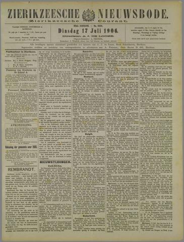 Zierikzeesche Nieuwsbode 1906-07-17