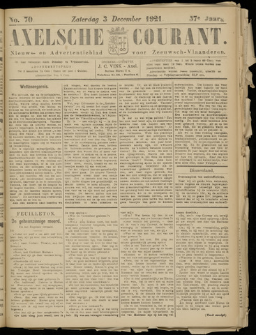 Axelsche Courant 1921-12-03