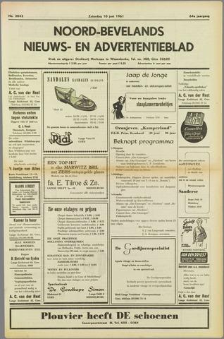 Noord-Bevelands Nieuws- en advertentieblad 1961-06-10