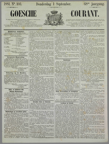 Goessche Courant 1881-09-01