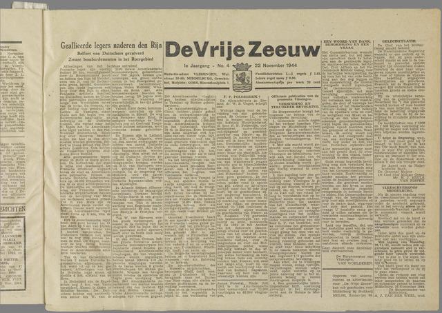 de Vrije Zeeuw 1944-11-22