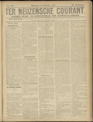 Ter Neuzensche Courant. Algemeen Nieuws- en Advertentieblad voor Zeeuwsch-Vlaanderen / Neuzensche Courant ... (idem) / (Algemeen) nieuws en advertentieblad voor Zeeuwsch-Vlaanderen 1928-09-03