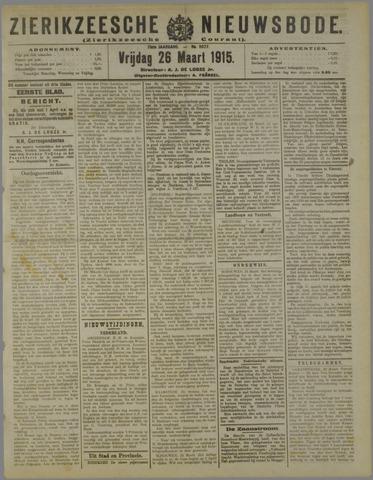 Zierikzeesche Nieuwsbode 1915-03-26