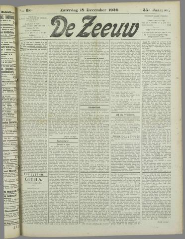 De Zeeuw. Christelijk-historisch nieuwsblad voor Zeeland 1920-12-18