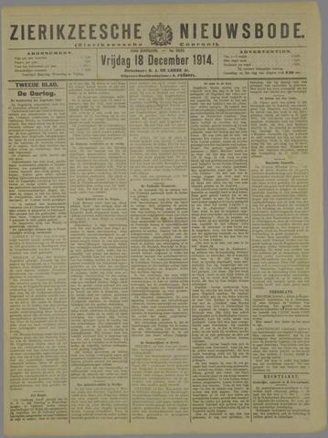 Zierikzeesche Nieuwsbode 1914-12-18