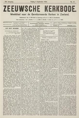 Zeeuwsche kerkbode, weekblad gewijd aan de belangen der gereformeerde kerken/ Zeeuwsch kerkblad 1925-09-11