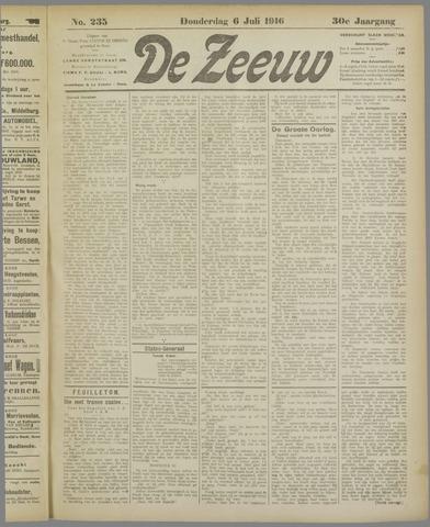 De Zeeuw. Christelijk-historisch nieuwsblad voor Zeeland 1916-07-06