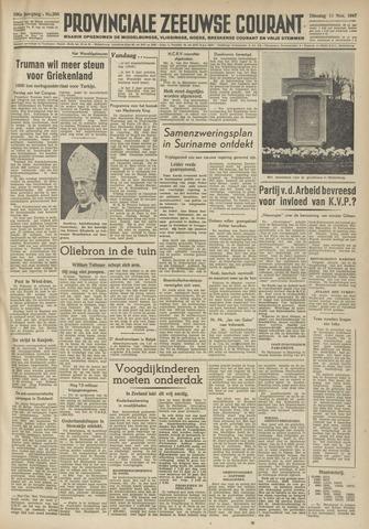 Provinciale Zeeuwse Courant 1947-11-11