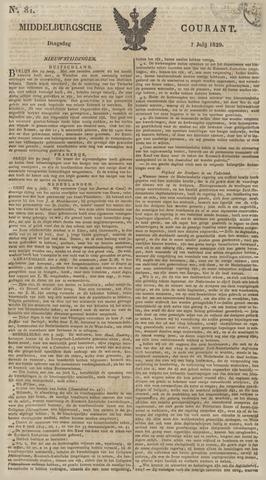 Middelburgsche Courant 1829-07-07